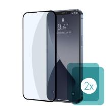 Tvrzené sklo (Tempered Glass) BASEUS pro Apple iPhone 12 / 12 Pro - přední - 2,5D - anti-blue-ray - 0,3mm - 2 kusy