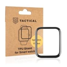 Ochranná 3D fólie TACTICAL pro Apple Watch 44mm Series 4 / 5 / 6 / SE - černá / čirá