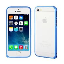 Rámeček / bumper pro Apple iPhone 5 / 5S / SE ultratenký - hliníkový - modrý