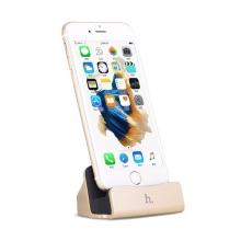 Dock / dokovací stanice HOCO CPH18 s Lightning kabelem pro Apple iPhone / iPod - zlatá