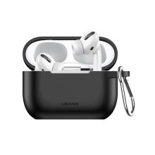 Pouzdro / obal USAMS pro Apple AirPods Pro - silikonové - černé