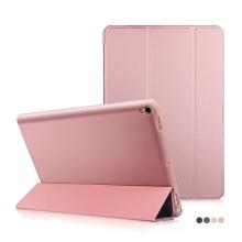 Pouzdro / kryt pro Apple iPad Pro 10,5 - funkce chytrého uspání + stojánek - silikon / umělá kůže - Rose Gold