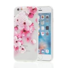 Kryt pro Apple iPhone 6 / 6S - kvetoucí sakura - gumový - matný