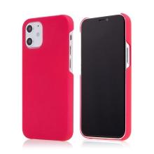 Kryt pro Apple iPhone 12 mini - plastový - měkčený povrch - růžový