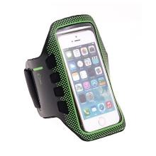 Sportovní pouzdro pro Apple iPhone 5 / 5C / 5S / SE - černo-zelené