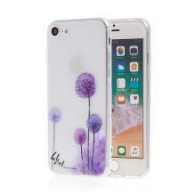 Kryt pro Apple iPhone 7 / 8 - gumový - fialové květiny