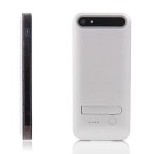 MFi certifikovaná externí baterie iFans s vyměnitelnými rámečky a stojánkem pro Apple iPhone 5 / 5S / SE - 2400 mAh - stříbrná