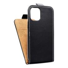 Pouzdro pro Apple iPhone 12 / 12 Pro - flipové - kožené - černé