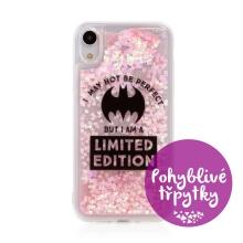 Kryt DC COMICS pro Apple iPhone Xr - pohyblivá srdíčka - gumový - Batman Bat Girl