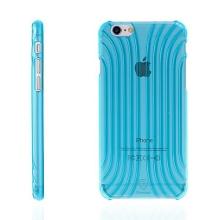 Plastový kryt BASEUS pro Apple iPhone 6 / 6S - výrazná struktura - průhledný modře probarvený