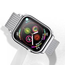 Řemínek USAMS pro Apple Watch 44mm Series 4 / 5 / 42mm 1 / 2 / 3 + pouzdro - milánský tah - stříbrný
