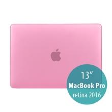 Obal / kryt pro MacBook Pro 13 Retina 2016 / 2017 (A1706, A1708) - plastový - růžový
