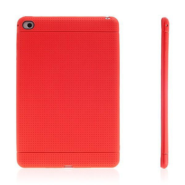 Gumový kryt / pouzdro pro Apple iPad mini 4 - tečkovaný - červený