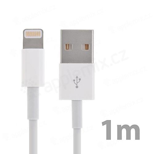 MFi certifikovaný synchronizační a nabíjecí kabel Lightning - bílý - 1m