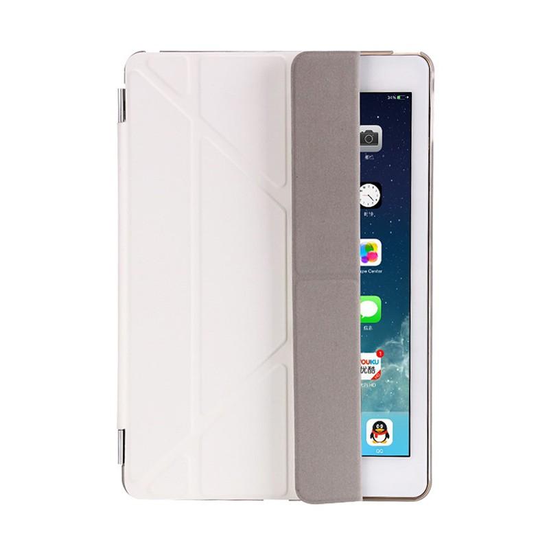 Pouzdro / kryt pro Apple iPad 9,7 (2017-2018) - odnímatelný Smart Cover - stojánek - plastové - bílé / průhledné