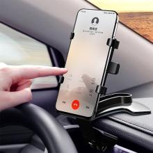 Držák do auta pro Apple iPhone - na lem palubní desky - rychloupínací - černý