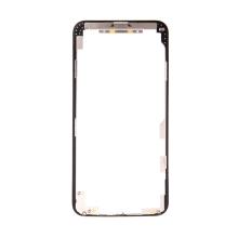 Plastový rámeček předního panelu pro Apple iPhone 11 Pro Max - černý - kvalita A+