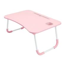 Stolek / podložka pod Apple MacBook + držák pro iPad + držák nápoje - LTD lamino - růžový