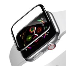 Tvrzené sklo (Tempered Glass) RURIHAI pro Apple Watch Series 4 / 5 / 6 / SE - 3D okraj - černé / čiré