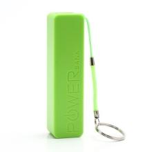 Mini externí baterie / power bank KABO 2600mAh - stylové poutko s kroužkem na klíče - zelená