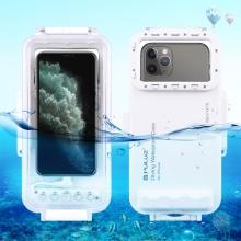 Pouzdro vodotěsné PULUZ pro Apple iPhone - univerzální - Lightning - do 40m hloubky (IPX8) - průhledné / bílé