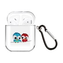 Pouzdro / obal pro Apple AirPods - gumové - vykulené sovičky