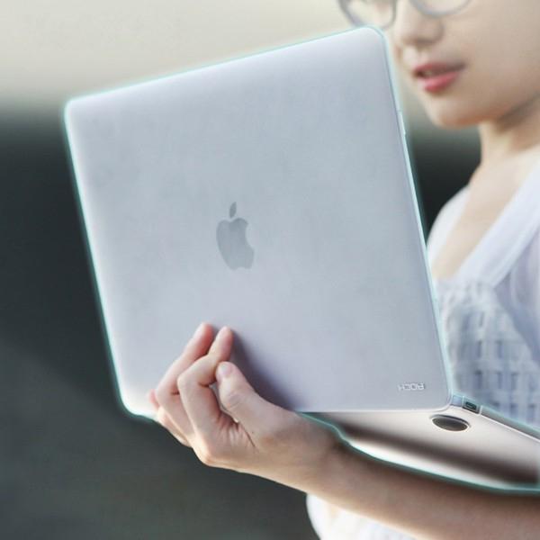 Tenký plastový obal / kryt ROCK pro Apple MacBook 12 Retina (rok 2015) - matný - průhledný