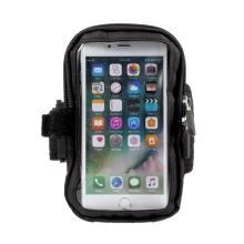 Pouzdro / obal pro Apple iPhone 6 Plus / 6S Plus / 7 Plus / 8 Plus - pásek na ruku - dvojitý zip - černé