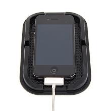 Univerzální gumový protiskluzový držák do automobilu pro Apple iPhone a další zařízení - černý