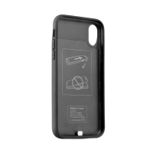 Externí baterie / kryt pro Apple iPhone X - 3200 mAh - matná - černá