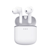 Sluchátka Bluetooth bezdrátová REMAX - True wireless - s dobíjecí krabičkou / pouzdrem -  špunty - bílá