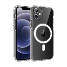Kryt pro Apple iPhone 12 mini - podpora MagSafe - gumový - průhledný