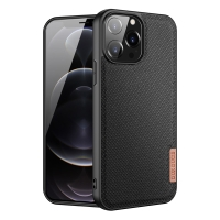 Kryt DUX DUCIS FINO pro Apple iPhone 13 Pro Max - látková textura - černý