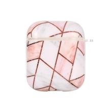 Pouzdro / obal pro Apple AirPods - gumové - mramorové plochy