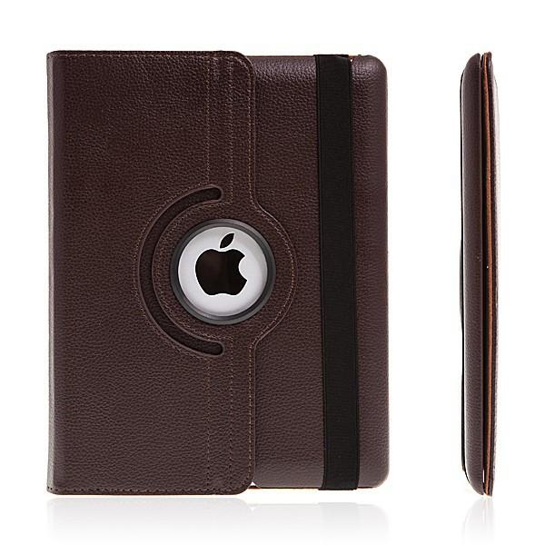Pouzdro / kryt pro Apple iPad 2. / 3. / 4.gen - 360° otočný držák - hnědé