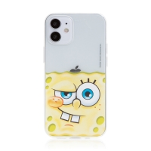 Kryt Sponge Bob pro Apple iPhone 12 mini - gumový - potutelný Sponge Bob