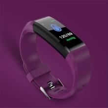 Sportovní fitness náramek - tlakoměr / krokoměr / měřič tepu - Bluetooth - voděodolný - fialový