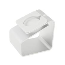 Hliníkový nabíjecí stojánek pro Apple Watch 38mm / 42mm Series 1 / 2 / 3 - matný - stříbrný