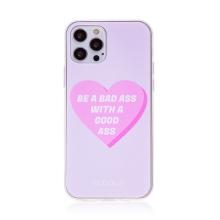 """Kryt BABACO pro Apple iPhone 12 / 12 Pro - gumový - srdce """" zlobivá holka"""""""