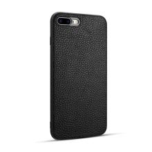 Kryt pro Apple iPhone 7 Plus / 8 Plus - gumový / kožený - černý