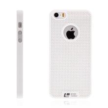Kryt LOOPEE pro Apple iPhone 5 / 5S / SE plastový / výřez pro logo - bílý