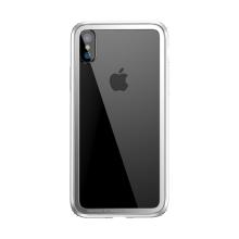 Rámeček / bumper BASEUS pro Apple iPhone X - gumový - bílý