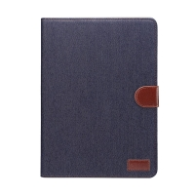 """Pouzdro pro Apple iPad Pro 10,5"""" / Air 3 (2019) - prostor pro platební karty + funkce chytrého uspání - džínové - modré / hnědé"""