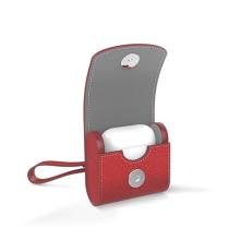 Pouzdro / obal ISMILE pro Apple AirPods - kožené - červené