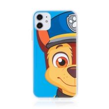 """Kryt """"Tlapková patrola"""" pro Apple iPhone 11 - gumový - Chase - modrý"""