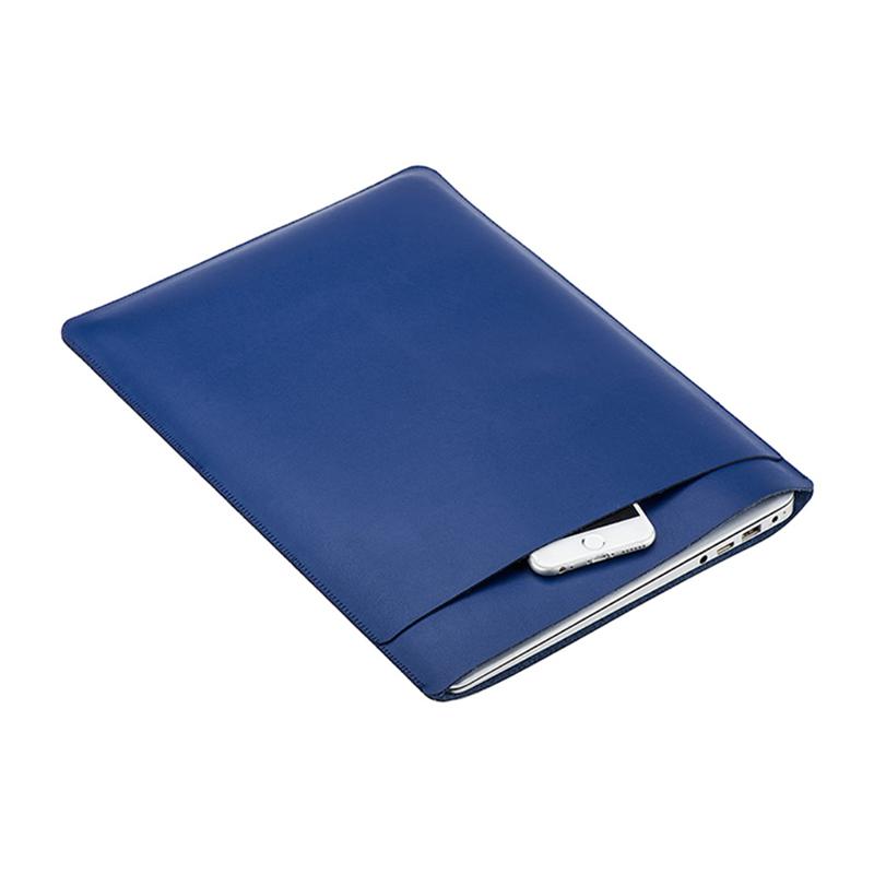 """Pouzdro / obal SOYAN pro Apple Macbook Air 13"""" / Pro 13"""" - s kapsou - umělá kůže - tmavě modré"""