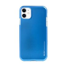 Kryt MERCURY iJelly pro Apple iPhone 11 - gumový - modrý - matný