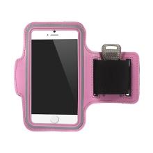 Sportovní pouzdro pro Apple iPhone 6 / 6S - světle růžové s reflexním pruhem
