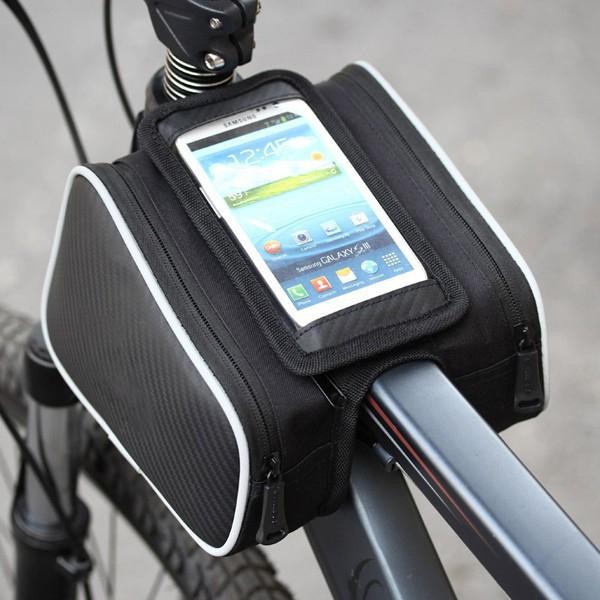 Sportovní pouzdro na kolo pro Apple iPhone 6 Plus / 6S Plus / 7 Plus a zařízení vel. do 5,5 + 2 boční kapsy - černé