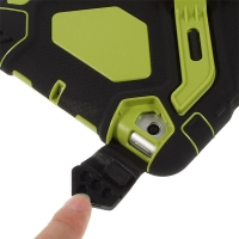Odolné plasto-silikonové pouzdro se stojánkem a přední ochrannou vrstvou pro Apple iPad mini / mini 2 / mini 3